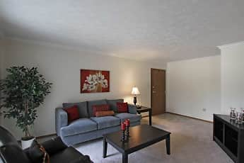 Living Room, Laurelwood Apartments and Townhomes, 1