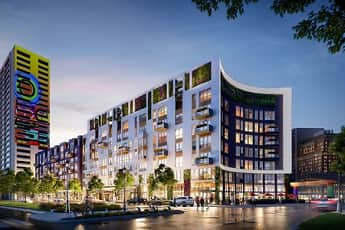 Building, City Club Apartments CBD Detroit, 0