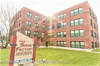 Community Signage, Shoe Factory Apartments, 0