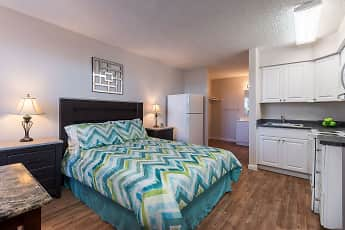 Bedroom, Trio Apartments, 0