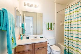 Bathroom, Circle S Apartments, 2
