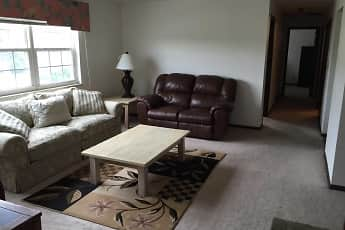 Living Room, Chesterfield Apartments, 1