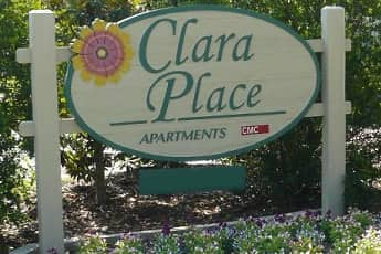 Community Signage, Clara Place Apartments, 0