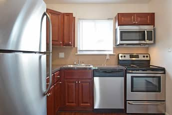 Kitchen, Chateau Apartments, 1