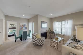 Living Room, Oaks Hackberry Creek, 0