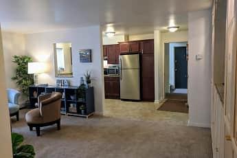 Living Room, Arbor Hills Apartments, 1