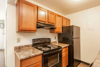 Kitchen, Hickman Flats, 1