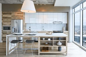 Kitchen, Two Light Luxury Apartments, 0