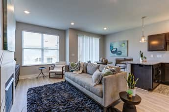 Living Room, Hanover Townhomes, 0