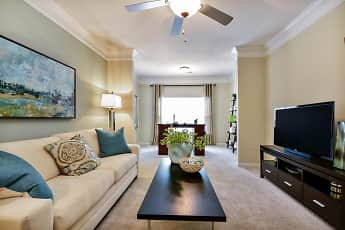 Living Room, Lullwater At Bass Apartment Homes, 0