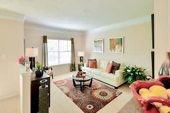 Living Room, The Saxony At Chase Oaks, 1