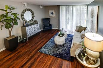 Living Room, Lakeside Apartments, 1