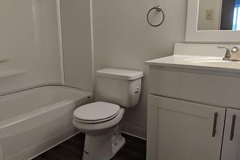 Bathroom, Hanover Apartments, 2