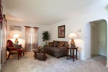 Living Room, Valley View Apartments, 1