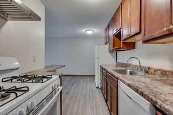 Kitchen, Queen Terrace Apartments, 1
