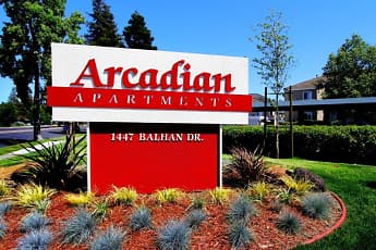 Community Signage, Arcadian Apartments, 0