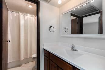 Bathroom, Park Plaza Apartments, 2