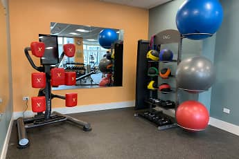 Fitness Weight Room, Burlington Station Luxury Residences, 1