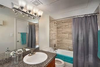 Bathroom, Steeplechase Apartments, 2
