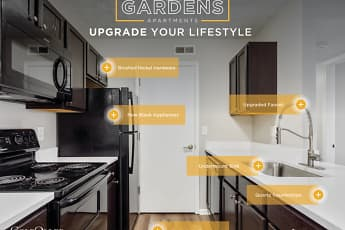 Kitchen, The Gardens Apartments, 0