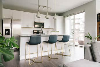 Kitchen, Burlington Station Luxury Residences, 0