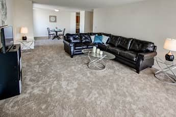 Living Room, Jefferson Tower Apartments, 1