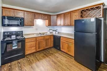 Kitchen, Crestwood Apartments, 1