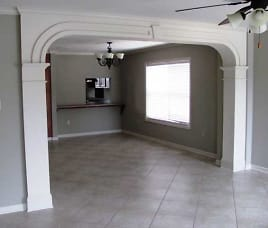Archway between Living Room & Dining Room