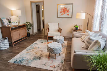 Spacious Living Room at Hawthorne Centre North in Wilmington, NC.jpg
