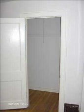 SW bedroom closet clothes hanging area