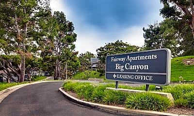Community Signage, Fairway Apartments at Big Canyon, 1