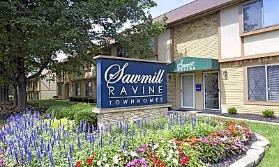 Community Signage, Sawmill Ravine, 0