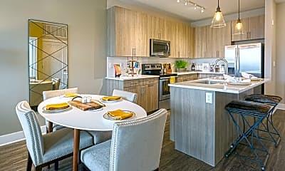 Kitchen, River House Apartments, 1