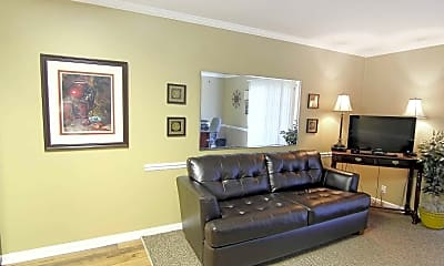 Living Room, Rivermont Apartments, 1