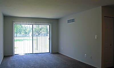 Living Room, Waynewood Apartments, 1