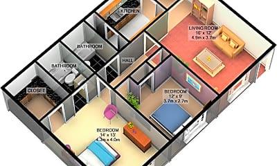 Bedroom, 327 W Hufsmith Rd, 2