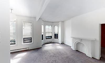 Living Room, 23 Cortes Street, Unit 5, 1
