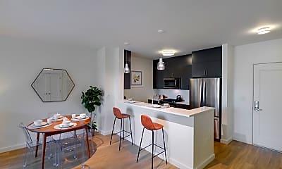 Kitchen, Oak Row, 2