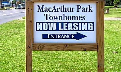 Community Signage, Macarthur Park Townhomes, 2