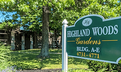 Community Signage, Highland Woods, 2