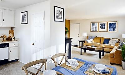 Living Room, Audubon Manor Apartments, 1