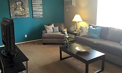 Living Room, Deer Creek Apartments, 2