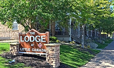 Community Signage, The Lodge Of Little Canada, 1