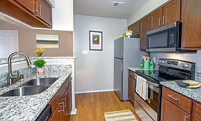 Kitchen, Rancho Palisades, 1