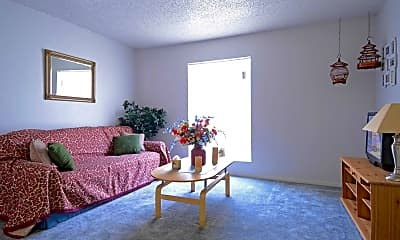 Living Room, University Club Apartments - Waco, 1