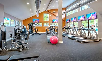 Fitness Weight Room, The Apartments at Midtown 501, 1