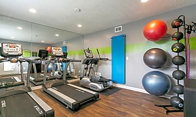 Fitness Weight Room, Candlewood Apartments, 1