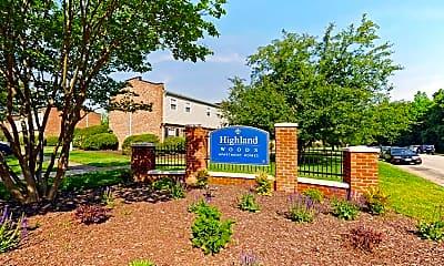 Community Signage, Highland Woods Apartments, 2