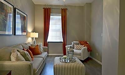 Living Room, The Park at Cedar Lawn Apartments, 1