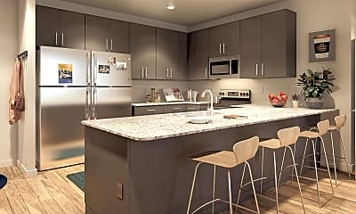Kitchen, Onshore Student Apartments, 1